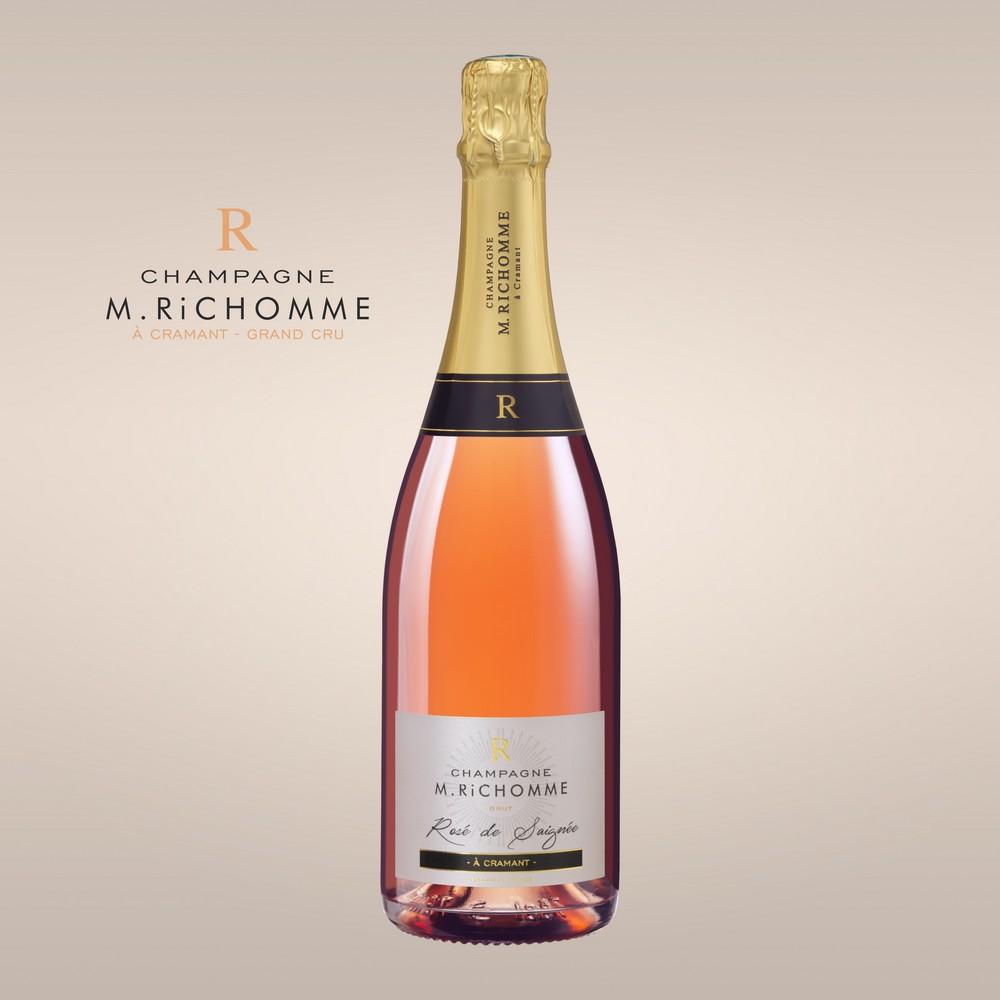 Champagne Rose De Saignee Demie Bouteille Champagne Richomme
